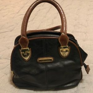 Mondani Black and Brown Leather Purse